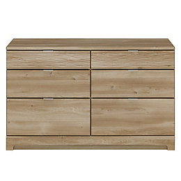 Sophia Oak Effect 6 Drawer Chest (H)74 cm