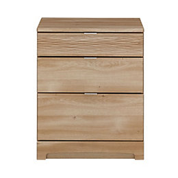 Sophia Oak Effect 3 Drawer Chest (H)740mm (W)600mm