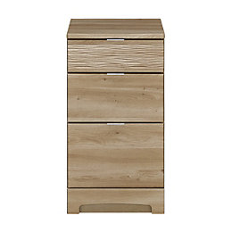 Sophia Oak Effect 3 Drawer Narrow Chest (H)740mm