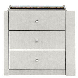 Sophia 3 Drawer Internal Wardrobe Chest (H)65 cm