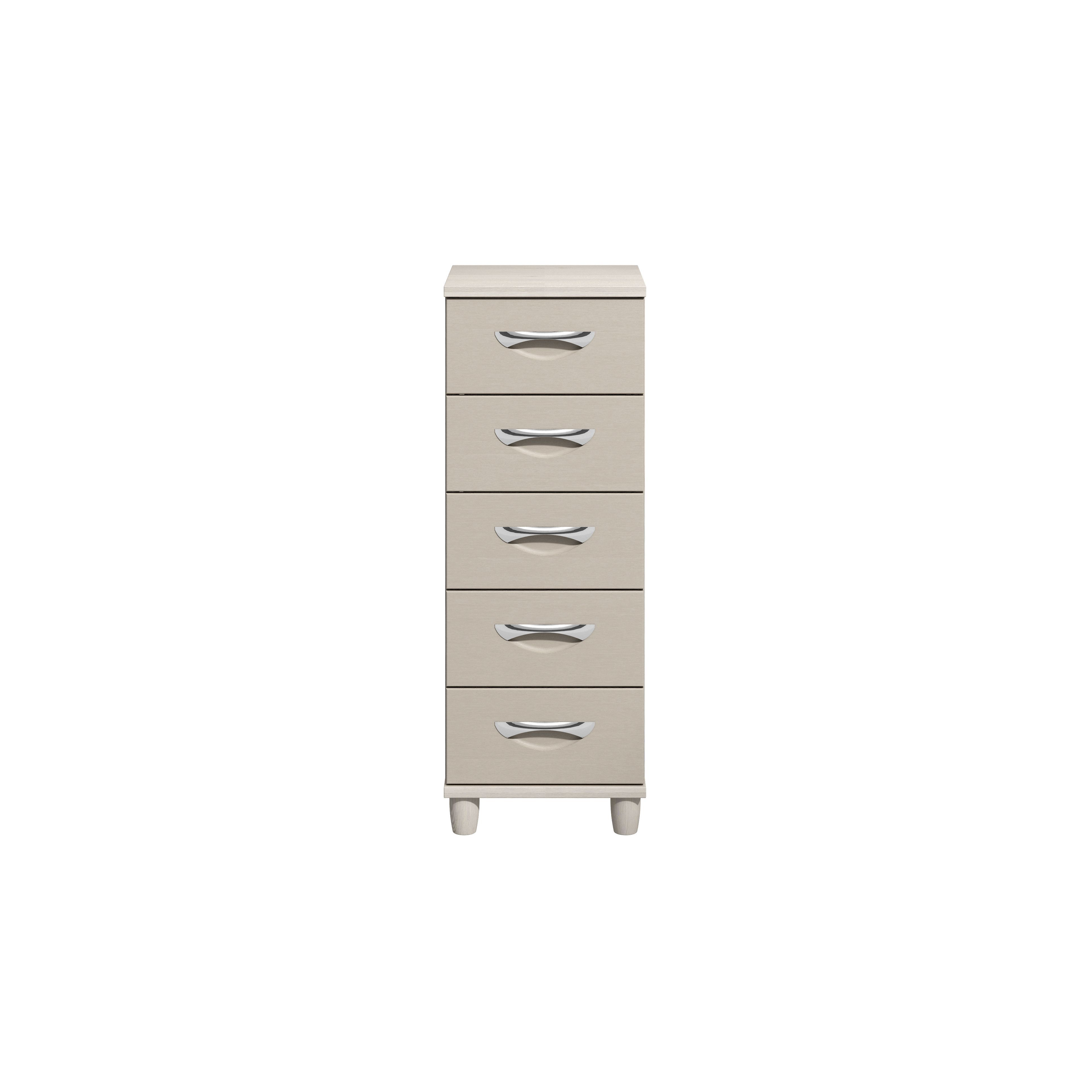 Consort Juno Cashmere Elm Effect Textured 5 Drawer Chest (h)1100mm (w)400mm (d)420mm