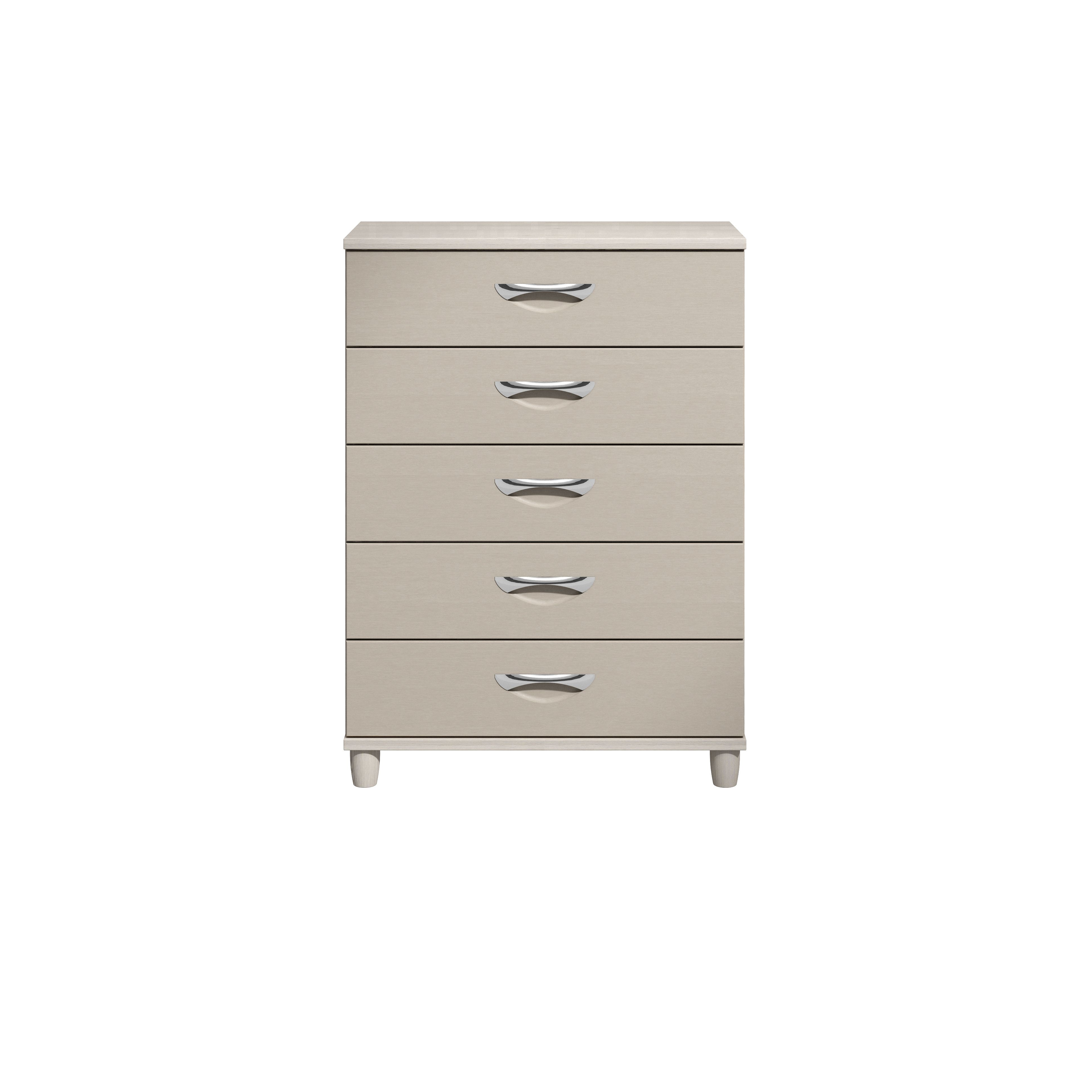 Consort Juno Cashmere Elm Effect Textured 5 Drawer Chest (h)1100mm (w)800mm (d)420mm