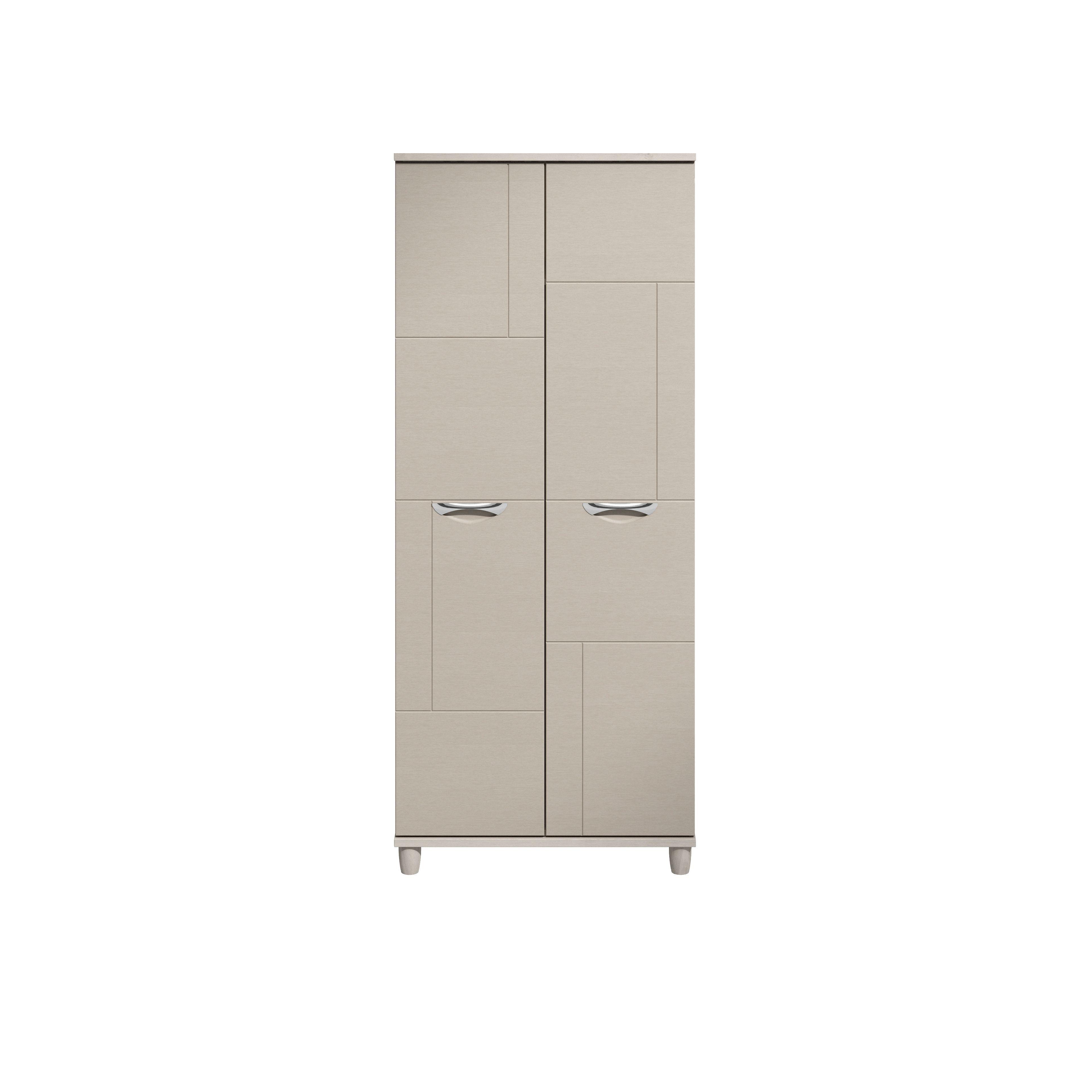 Juno White Elm & Cashmere Effect 2 Door Wardrobe (h)1930mm (w)800mm
