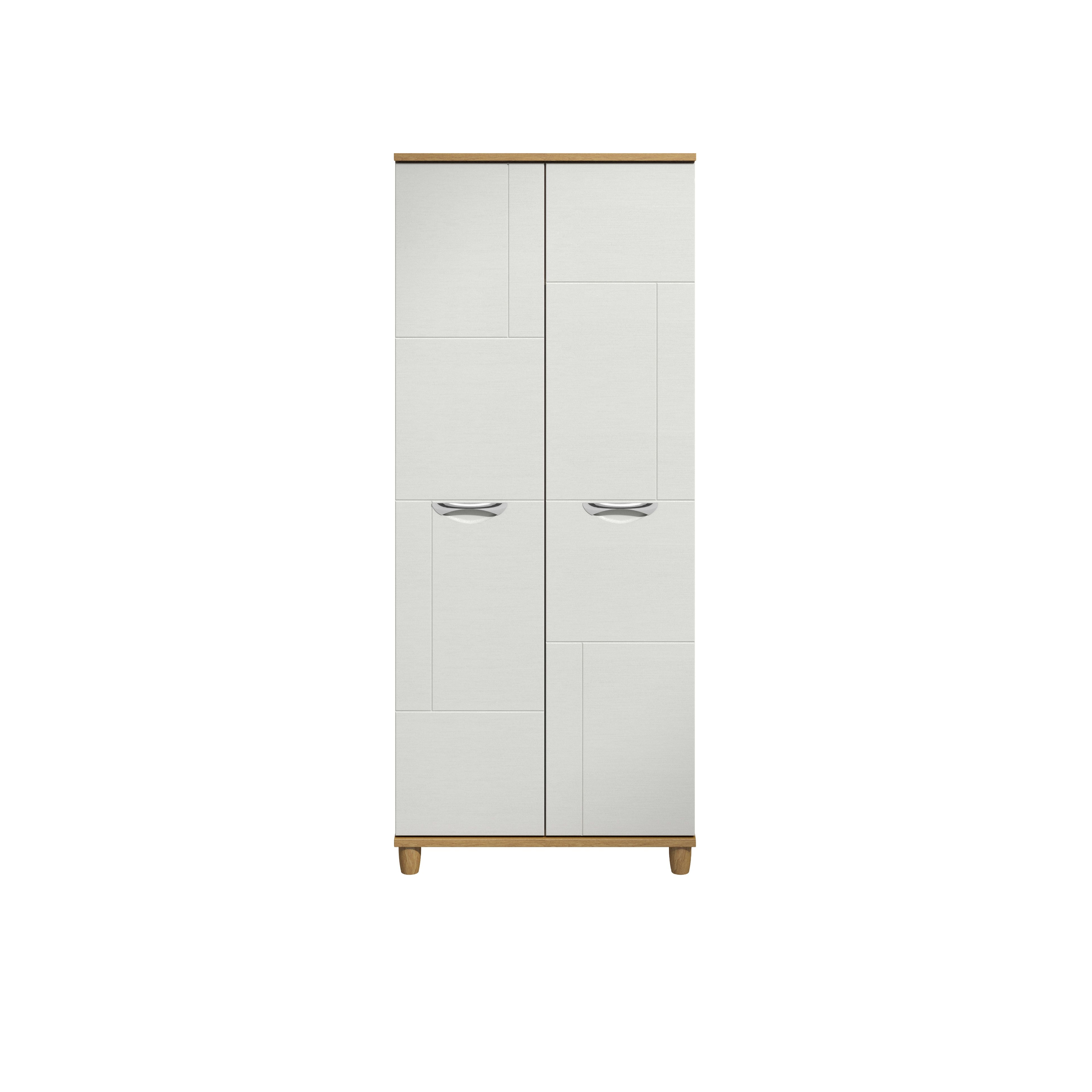 Juno White Oak Effect 2 Door Wardrobe (h)1930mm (w)800mm