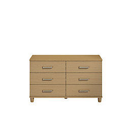 Pandora Elm Effect 6 Drawer Chest (H)71 cm
