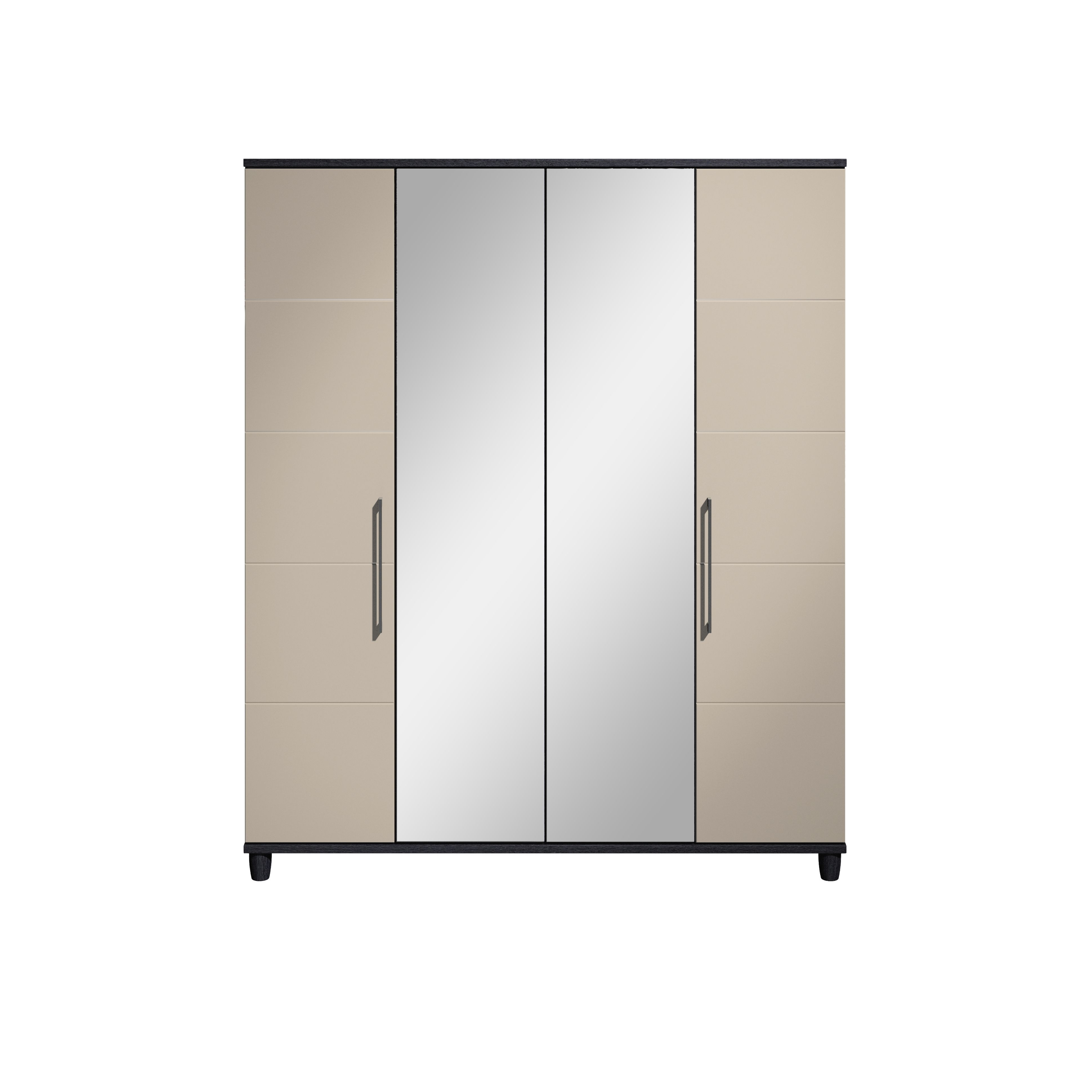 Eris black pale grey mirror wardrobe departments diy for B q bedroom furniture