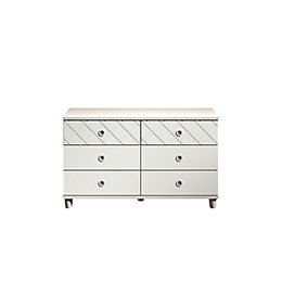 Hektor Elm & White 6 Drawer Chest (H)71