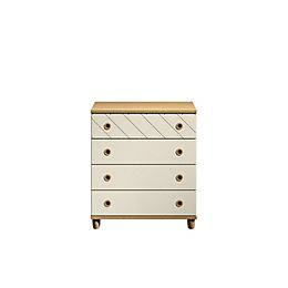 Hektor Oak & Alabaster 4 Drawer Chest (H)910mm
