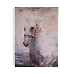 Horse Grey Canvas (W)300mm (H)420mm