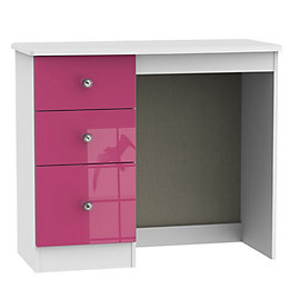 Rosa Pink & White Dressing Table (H)800mm (W)930mm