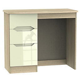 Monte Carlo Cream & Oak Effect Dressing Table
