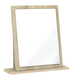 Monte Carlo Cream & Oak Effect Mirror (H)510mm