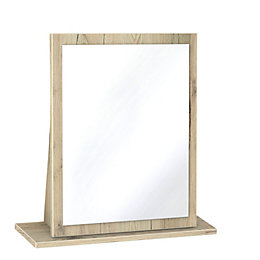 Como Grey & Oak Effect Mirror (H)510mm (W)480mm