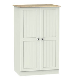 Swift Como Grey & Oak Effect Midi Wardrobe