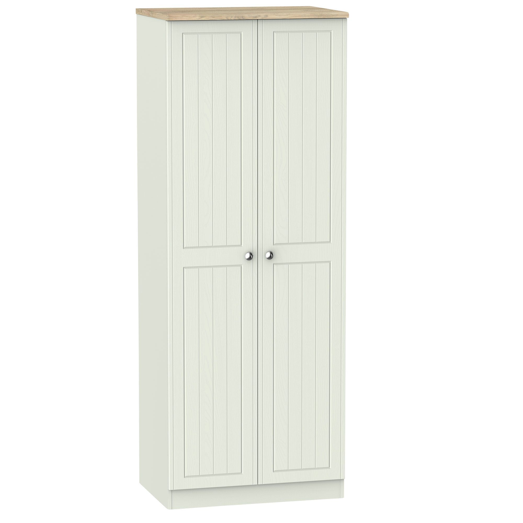 Como Grey & Oak Effect Tall Wardrobe
