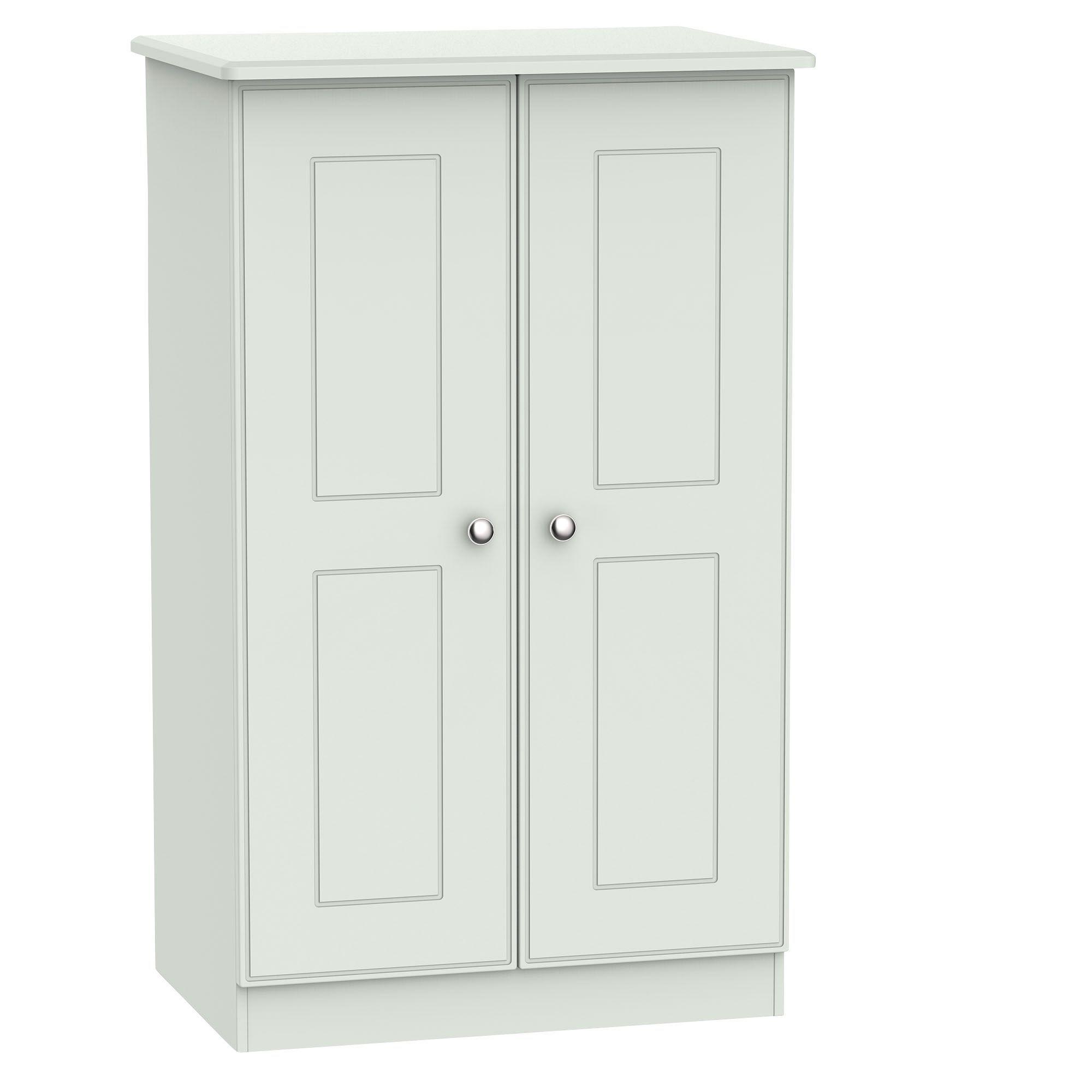 Lugano Grey 2 Door Midi Wardrobe (h)1270mm (w)770mm