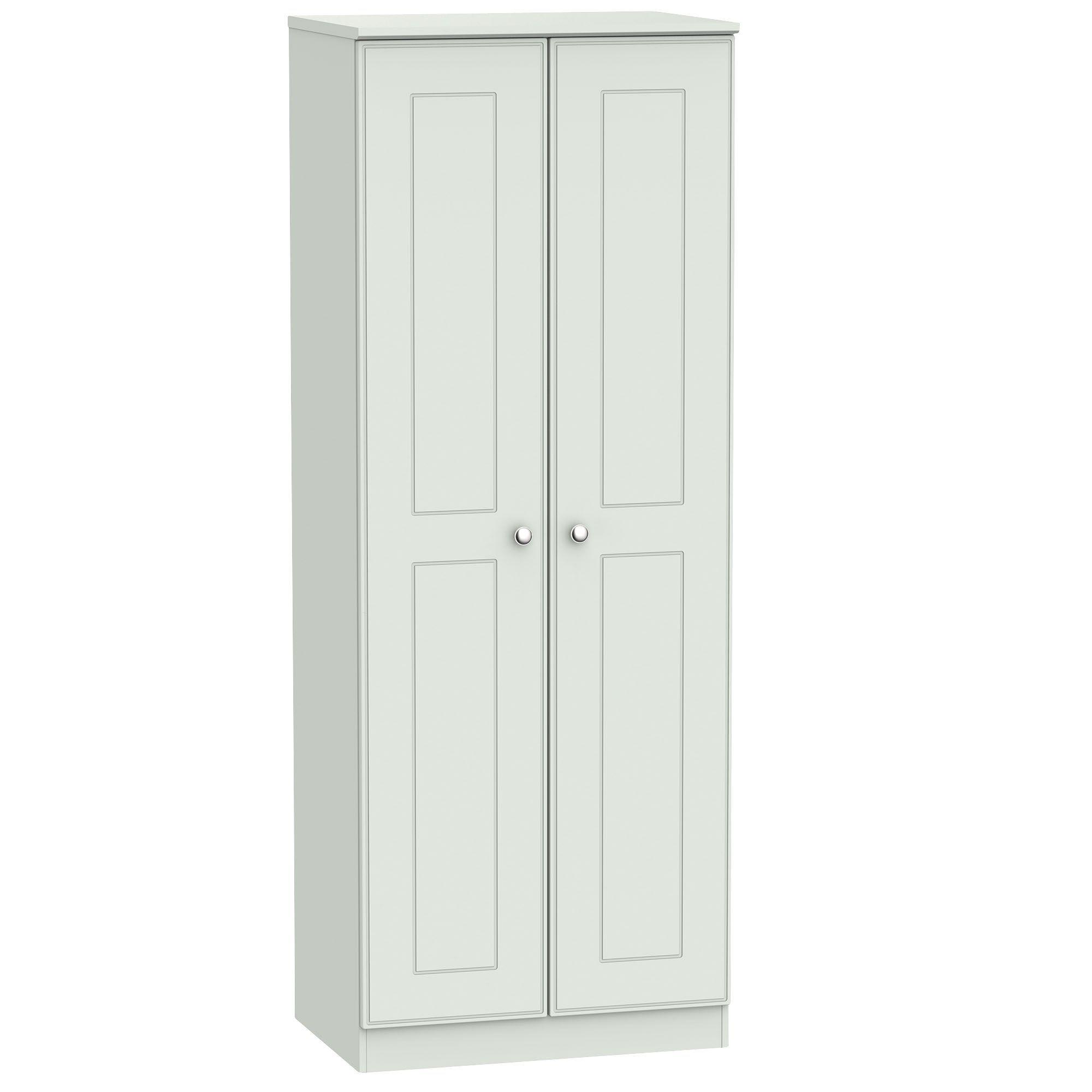 Lugano Grey 2 Door Wardrobe (h)1970mm (w)740mm