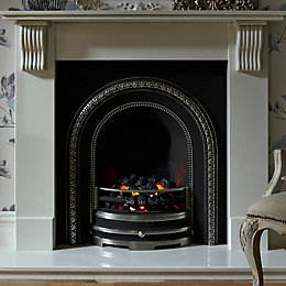Aurora Victoria White Electric Fire Suite