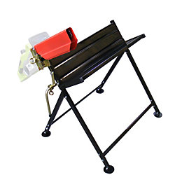 Handy Foldable Saw Horse with Chainsaw Support