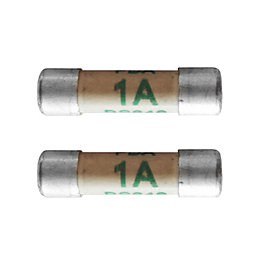 fuses extension leads plugs fuses connectors electrical corelectric 1a fuse pack of 2