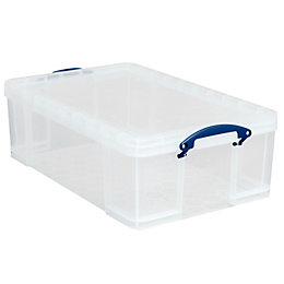 Really Useful Clear 50L Plastic Storage Box