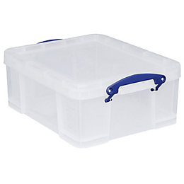 Really Useful Clear 18L Plastic Storage Box
