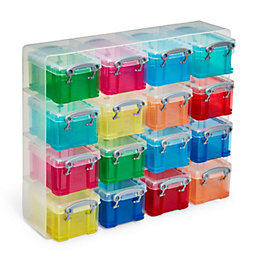 Really Useful Multicolour Plastic Storage Boxes & Organiser