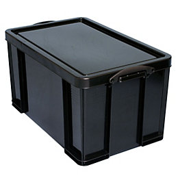 Really Useful Extra Strong Black 84L Plastic Storage