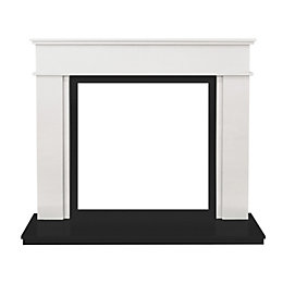 Daventry Sparkly White & Black Granite Marble Fire