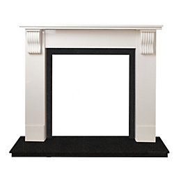 Victoria Sparkly White & Black Granite Marble Fire