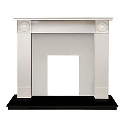 Tetbury Sparkly White & Black Granite Marble Fire