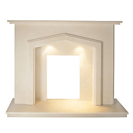 Fenton Roman Stone Micro Marble Fire Surround Set