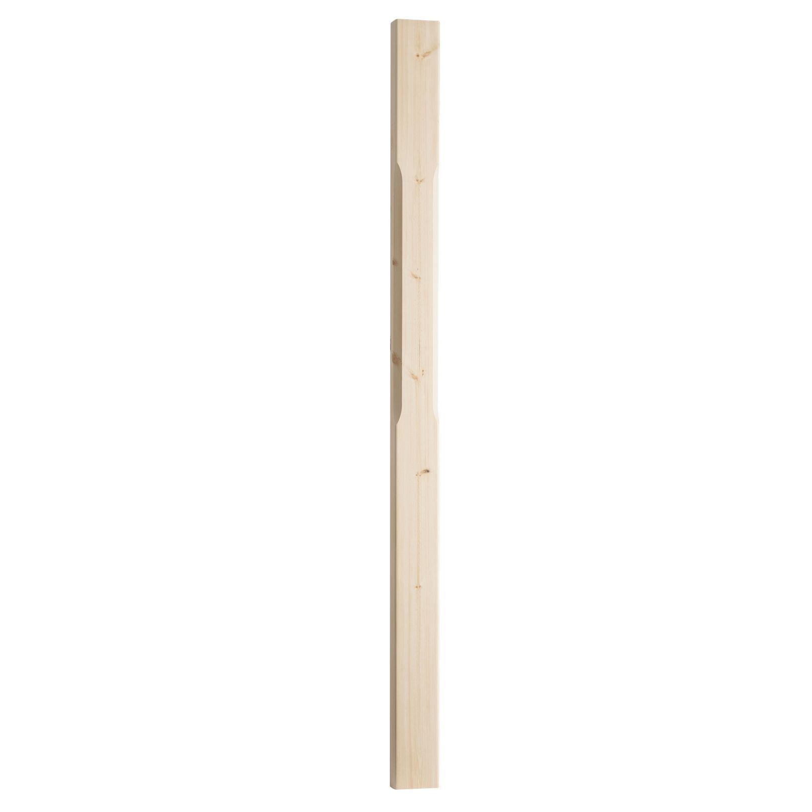 Oak Stop Chamfered Half Newel Post (w)41mm (l)1500mm