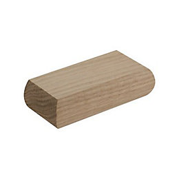 Reflections Oak Half Flat Newel Cap (L)51mm (H)29mm