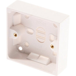 Marbo White Single Pattress Box 32 mm