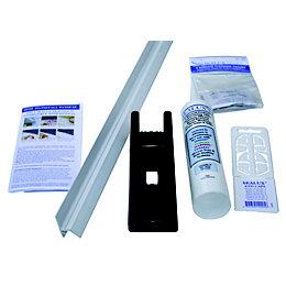 Splashwall White Shower Panelling Splash Seal Kit (L)1.85m