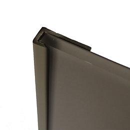 Splashwall Hessian Shower Panelling End Cap (L)2440mm (T)4mm