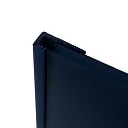 Splashwall Royal Blue Shower Panelling End Cap (L)2440mm