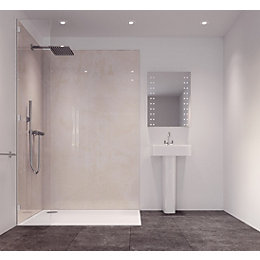 Splashwall Pearlescent Single Shower Panel (L)2420mm (W)585mm
