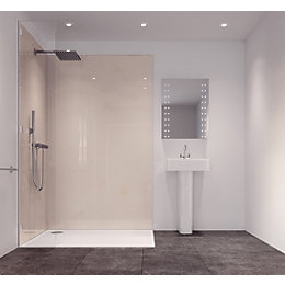 Splashwall Milano Marble Effect Single Shower Panel (L)2420mm
