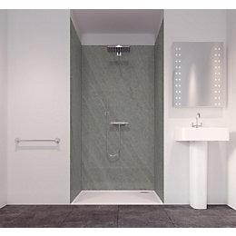 Splashwall Volcanic Dust Single Shower Panel (L)2420mm (W)585mm