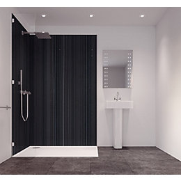 Splashwall Metallic Single Shower Panel (L)2420mm (W)585mm