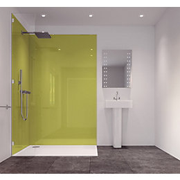 Splashwall Lime Single Shower Panel (L)2420mm (W)585mm (T)11mm