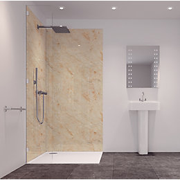 Splashwall Tuscan Cream 2 Sided Shower Panelling Kit