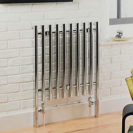 Kudox Vertice Radiator Chrome Polished, (H)800 mm (W)600
