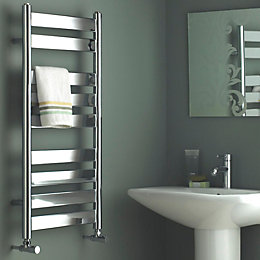 Kudox Linear Silver Towel Warmer (H)950mm (W)500mm