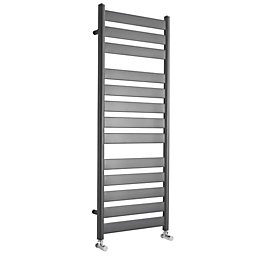 Kudox Linear Anthracite Towel Warmer (H)1300mm (W)500mm