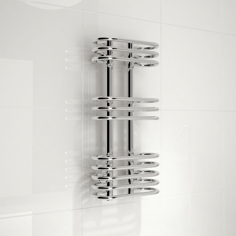 Kudox Electric Silver Towel Rail H 1000mm W 450mm: Bathroom Electric Towel Warmer