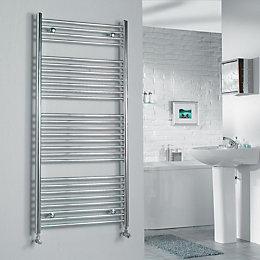 Kudox Silver Towel Warmer (H)1324mm (W)600mm