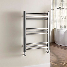 Kudox Timeless Silver Towel Warmer (H)700mm (W)500mm